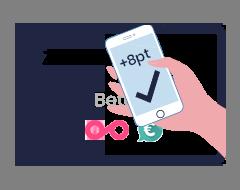 Betalen en sparen in een op je website of in je zelfservice kassa.